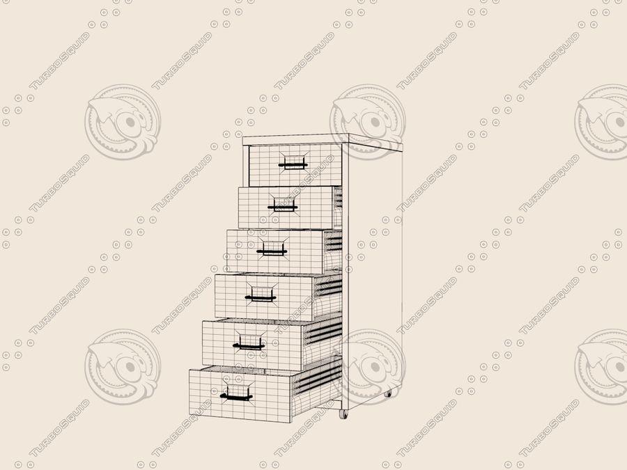 IKEA Helmer - Kontorslådan på hjul royalty-free 3d model - Preview no. 5