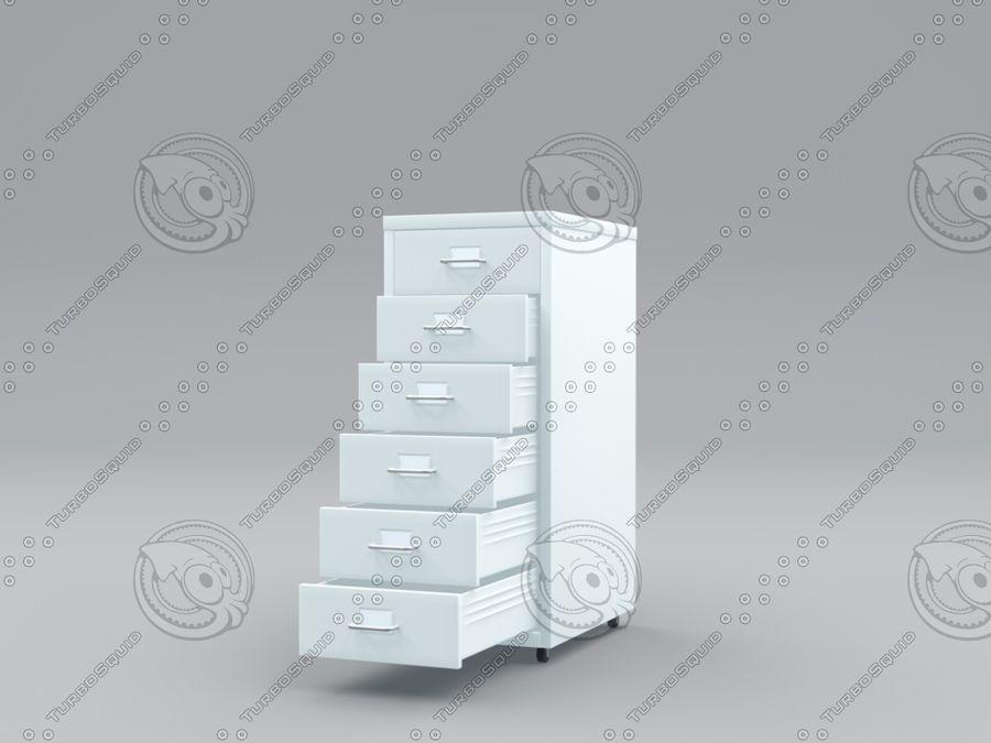 IKEA Helmer - Kontorslådan på hjul royalty-free 3d model - Preview no. 1