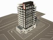 Construyendo alta tecnología modelo 3d