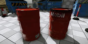 oil drums 3d model