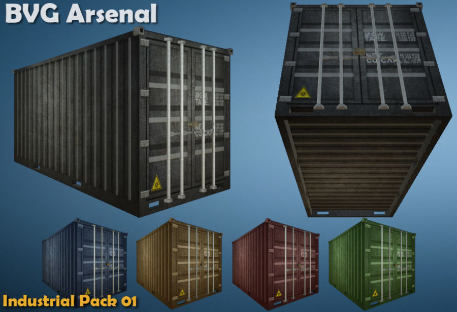 Paquete industrial royalty-free modelo 3d - Preview no. 9