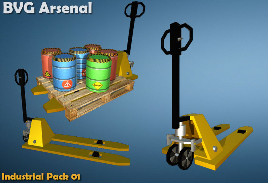 Paquete industrial royalty-free modelo 3d - Preview no. 7