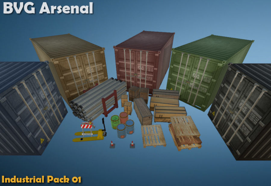 Paquete industrial royalty-free modelo 3d - Preview no. 1