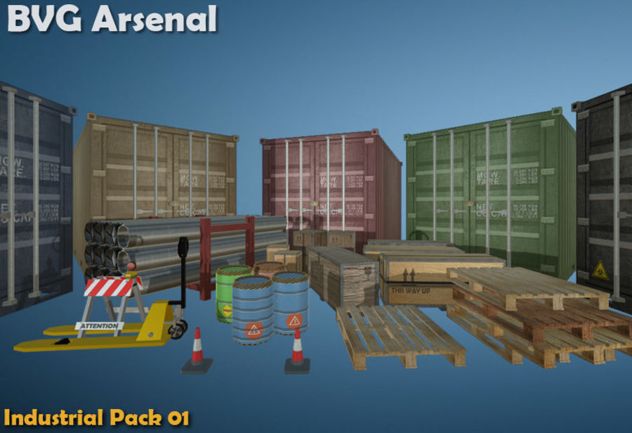 Paquete industrial royalty-free modelo 3d - Preview no. 2