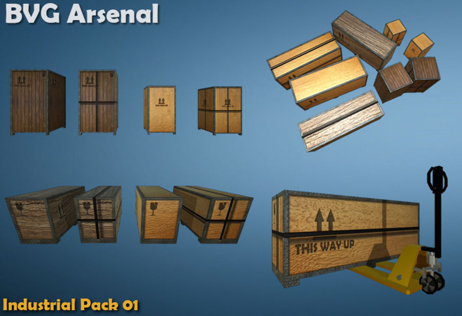Paquete industrial royalty-free modelo 3d - Preview no. 6