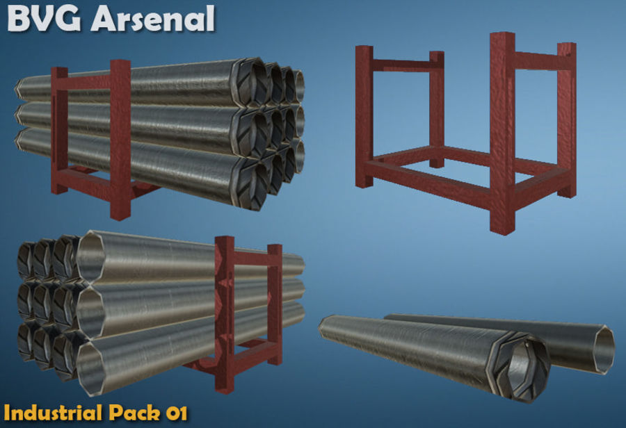 Paquete industrial royalty-free modelo 3d - Preview no. 8