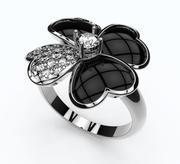 anello di trifoglio 3d model
