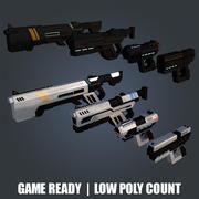 broń sci-fi 3d model