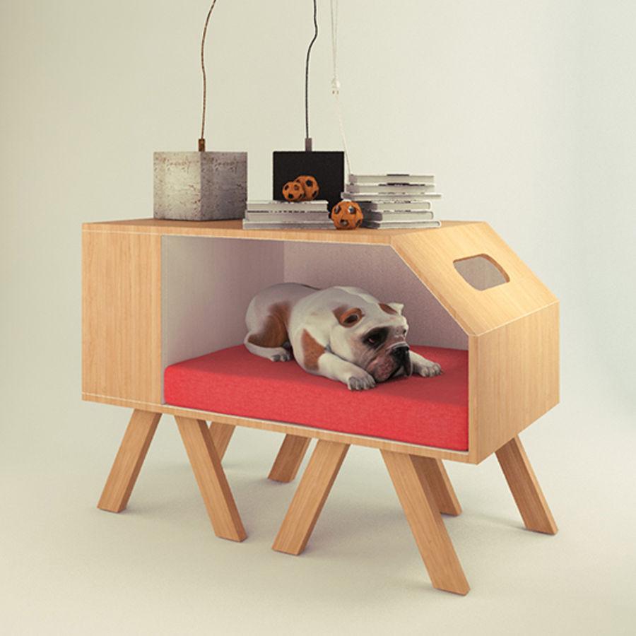 Hundar och katter hus royalty-free 3d model - Preview no. 4