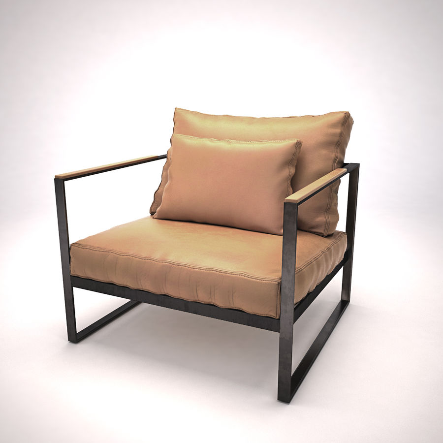 Monaco lounge chair | armchair royalty-free 3d model - Preview no. 1