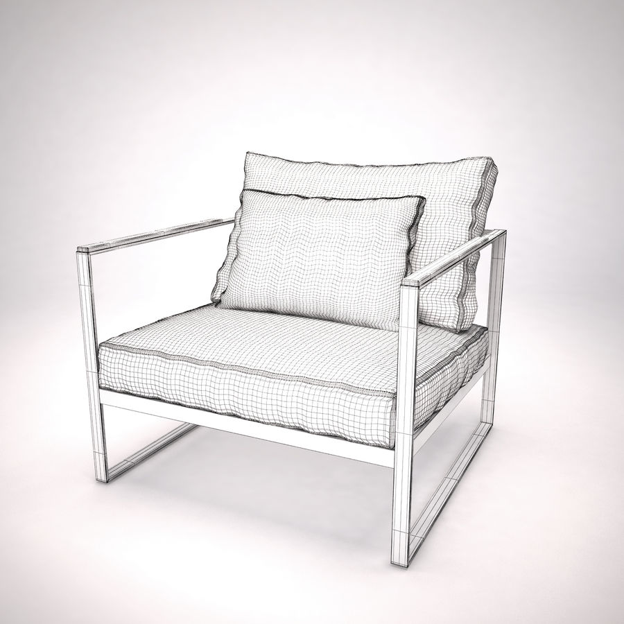 Monaco lounge chair | armchair royalty-free 3d model - Preview no. 5