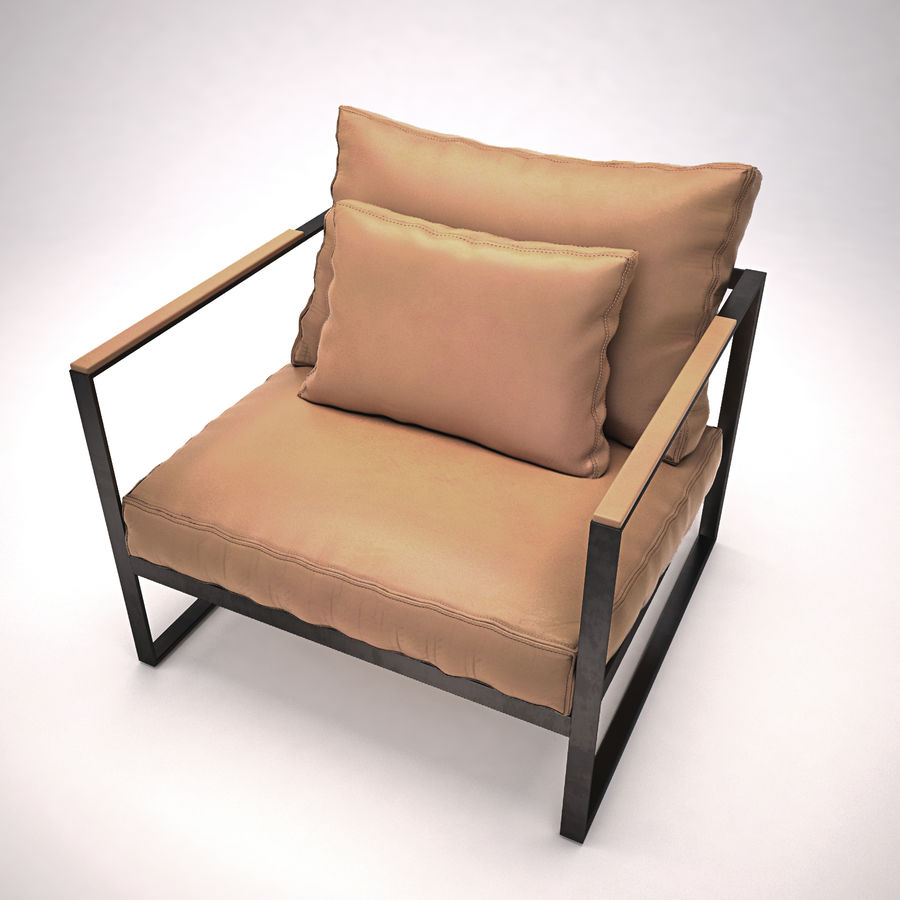 Monaco lounge chair | armchair royalty-free 3d model - Preview no. 2