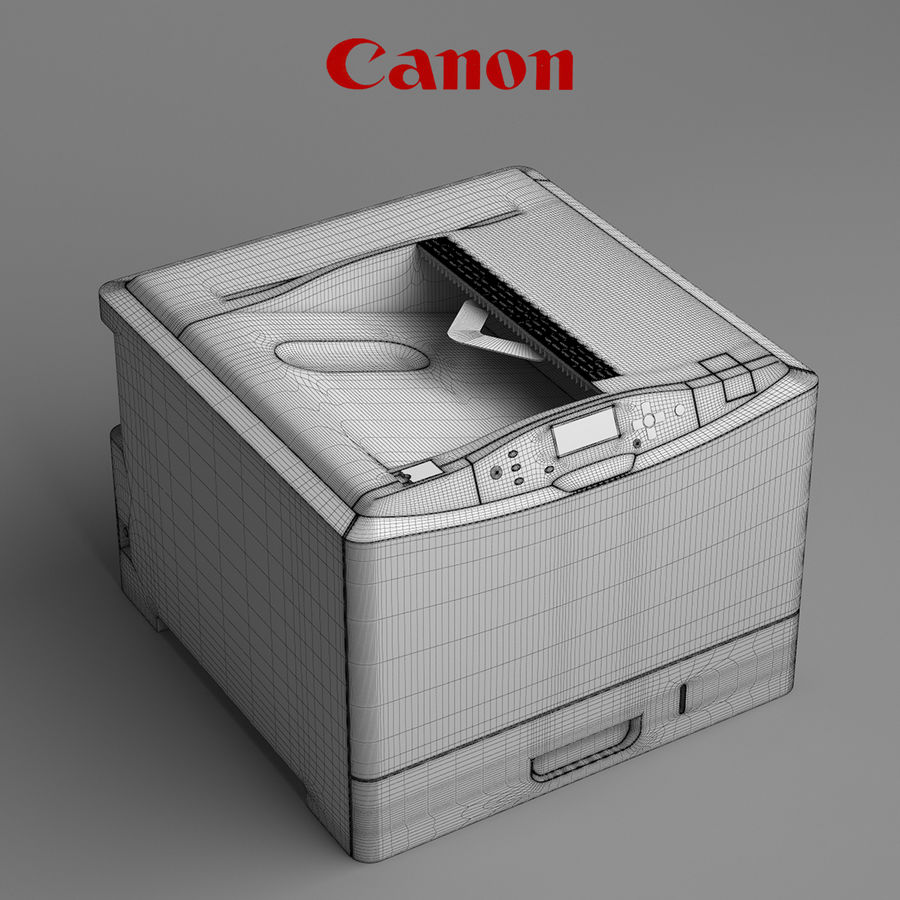 Drukarka Canon i-Sensys LBP7780Cx royalty-free 3d model - Preview no. 2