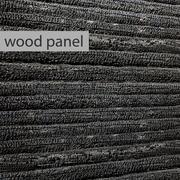 나무 패널 탄된 석탄 3D 3d model