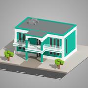 Low Poly Gebäude 3d model