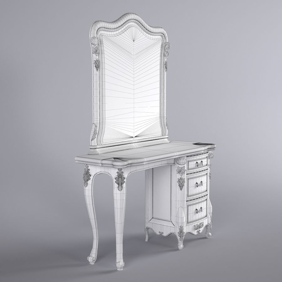 Toalettbord royalty-free 3d model - Preview no. 6