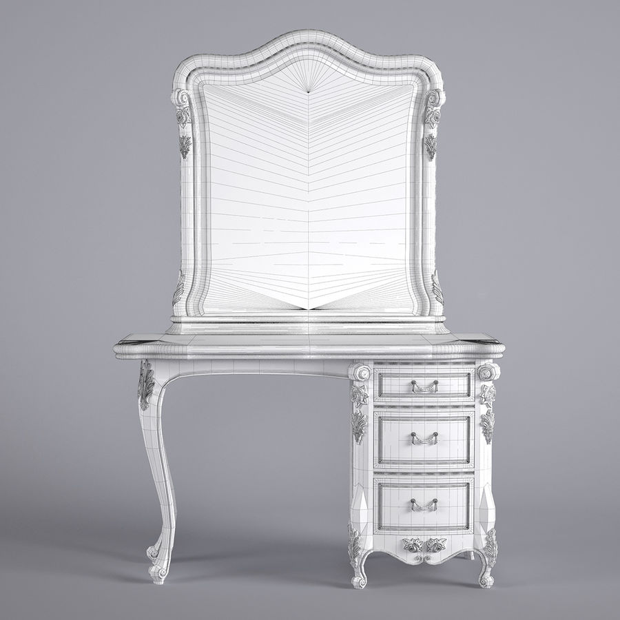 Toalettbord royalty-free 3d model - Preview no. 5