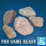 Gra pustynnych kamieni gotowa 3d model
