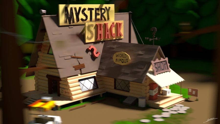 Cabaña misteriosa royalty-free modelo 3d - Preview no. 1