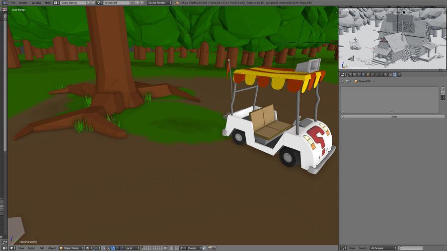 Cabaña misteriosa royalty-free modelo 3d - Preview no. 3