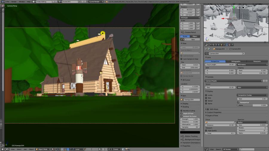 Cabaña misteriosa royalty-free modelo 3d - Preview no. 6