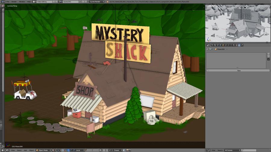 Cabaña misteriosa royalty-free modelo 3d - Preview no. 5