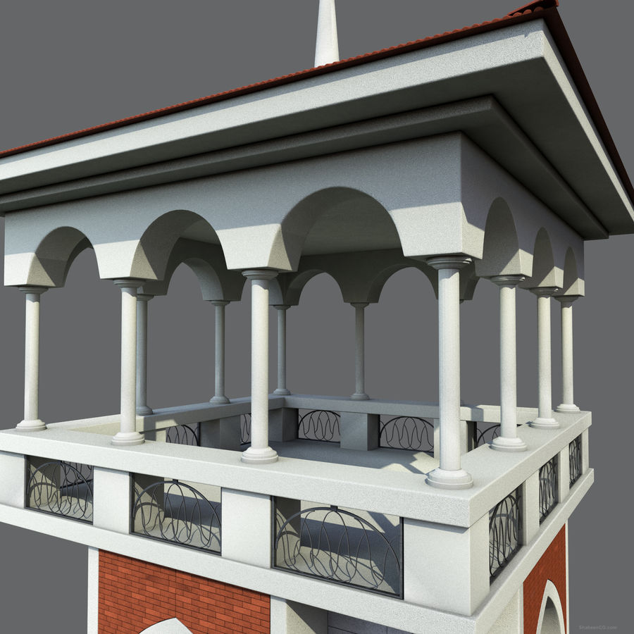 Architektur Turm royalty-free 3d model - Preview no. 14