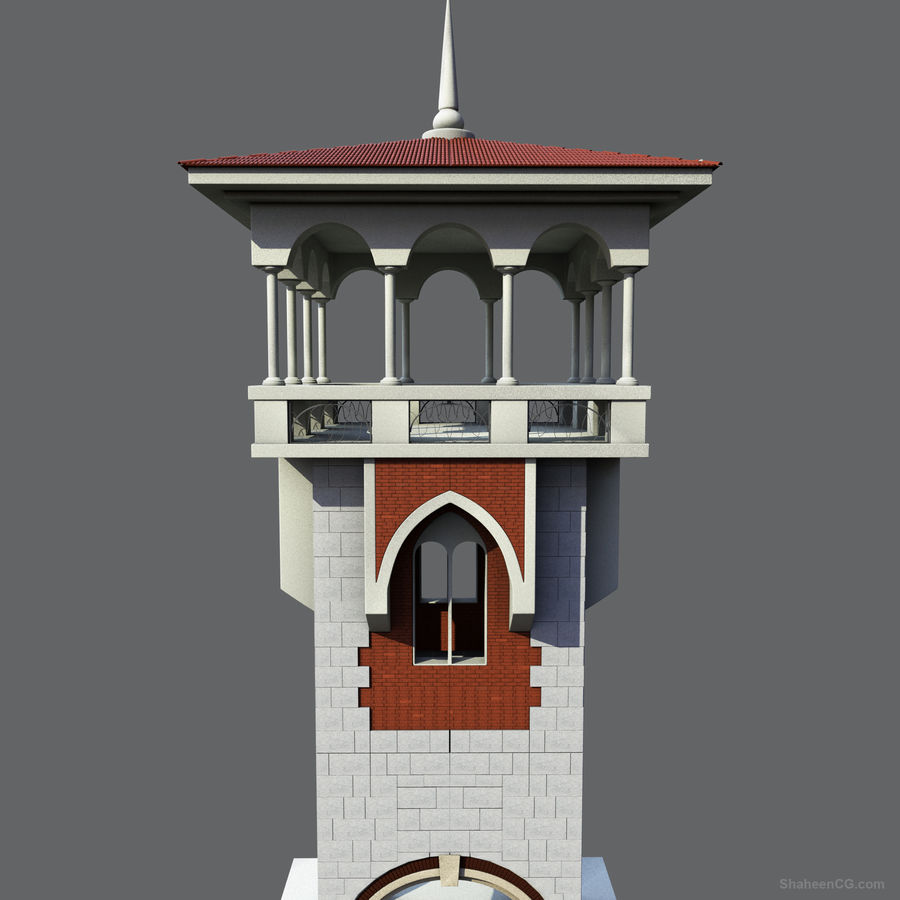 Architektur Turm royalty-free 3d model - Preview no. 1