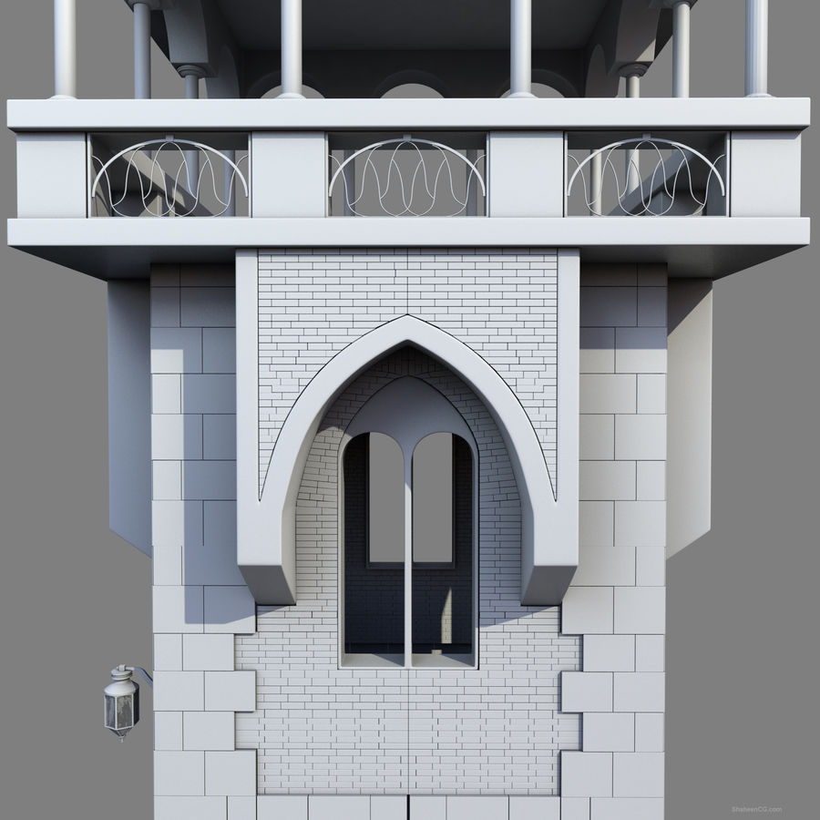 Architektur Turm royalty-free 3d model - Preview no. 17