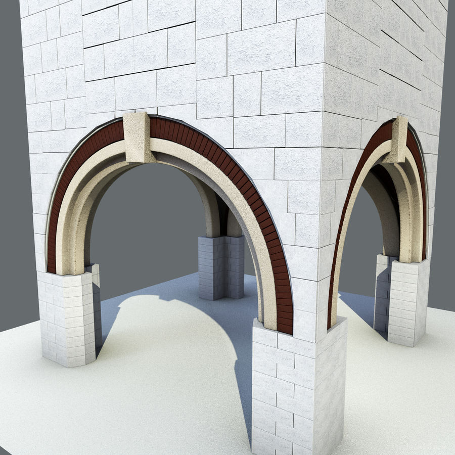 architektura Wieża royalty-free 3d model - Preview no. 3