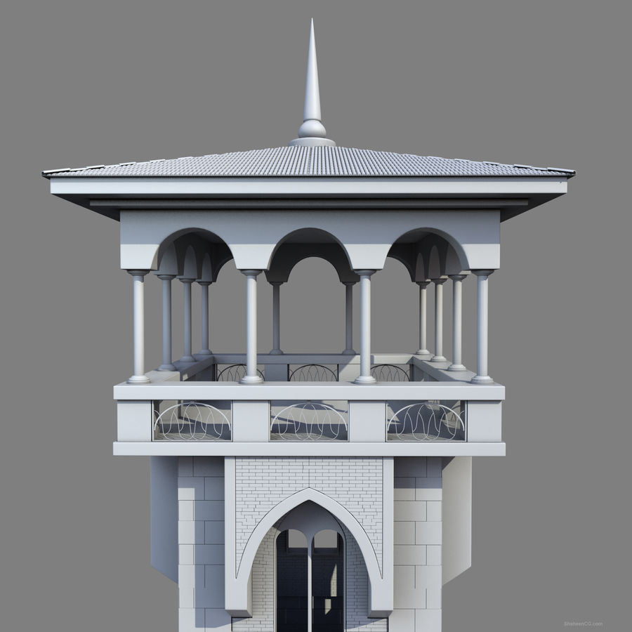 Architektur Turm royalty-free 3d model - Preview no. 18