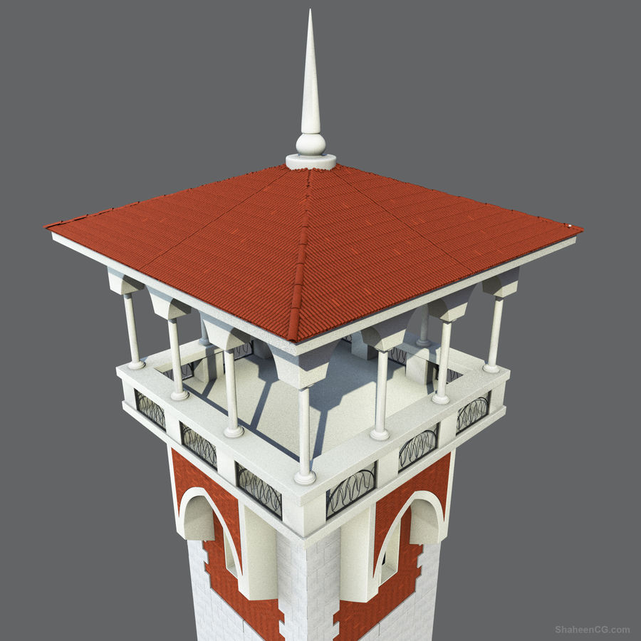 architektura Wieża royalty-free 3d model - Preview no. 5