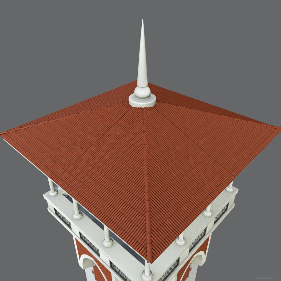 architektura Wieża royalty-free 3d model - Preview no. 8