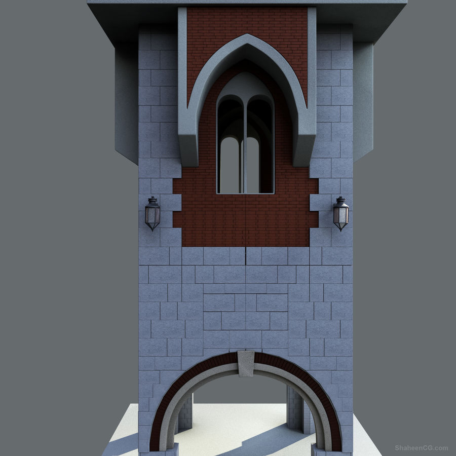 architektura Wieża royalty-free 3d model - Preview no. 20