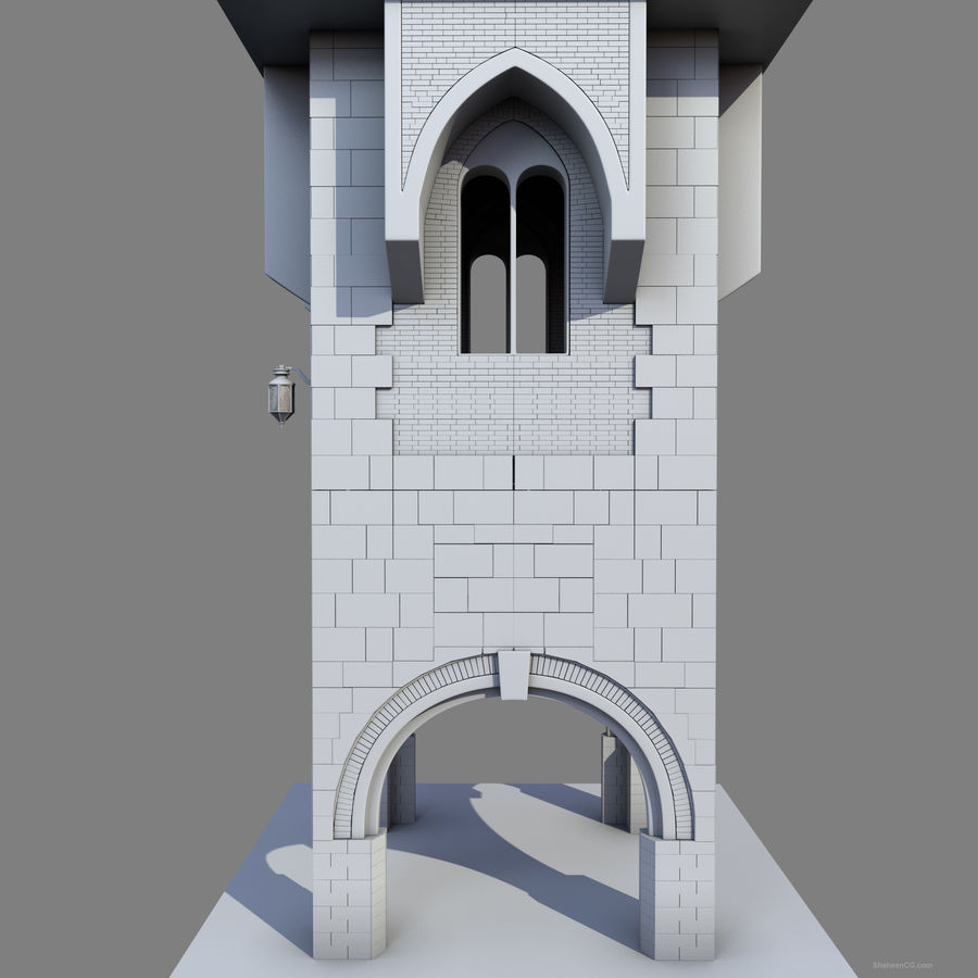architektura Wieża royalty-free 3d model - Preview no. 19