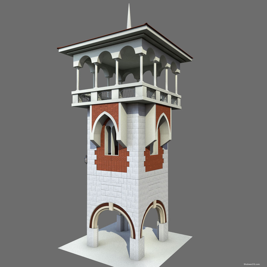 Architektur Turm royalty-free 3d model - Preview no. 11