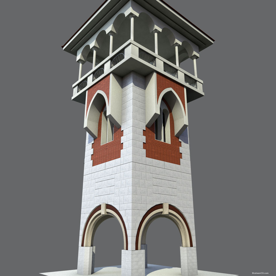 Architektur Turm royalty-free 3d model - Preview no. 10