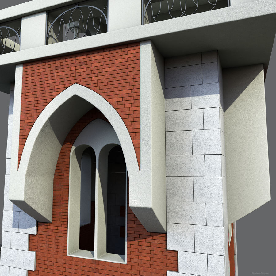 architektura Wieża royalty-free 3d model - Preview no. 6