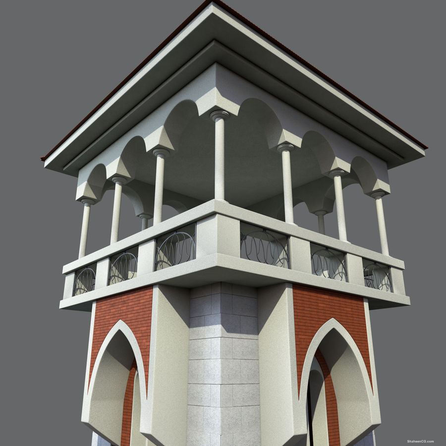 Architektur Turm royalty-free 3d model - Preview no. 9