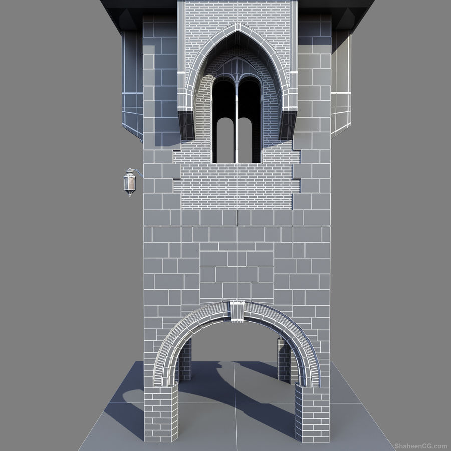 architektura Wieża royalty-free 3d model - Preview no. 21