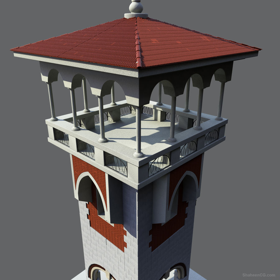 Architektur Turm royalty-free 3d model - Preview no. 4