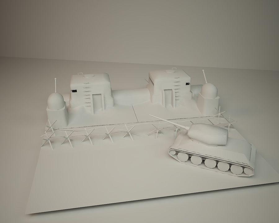 陣地壕 royalty-free 3d model - Preview no. 5