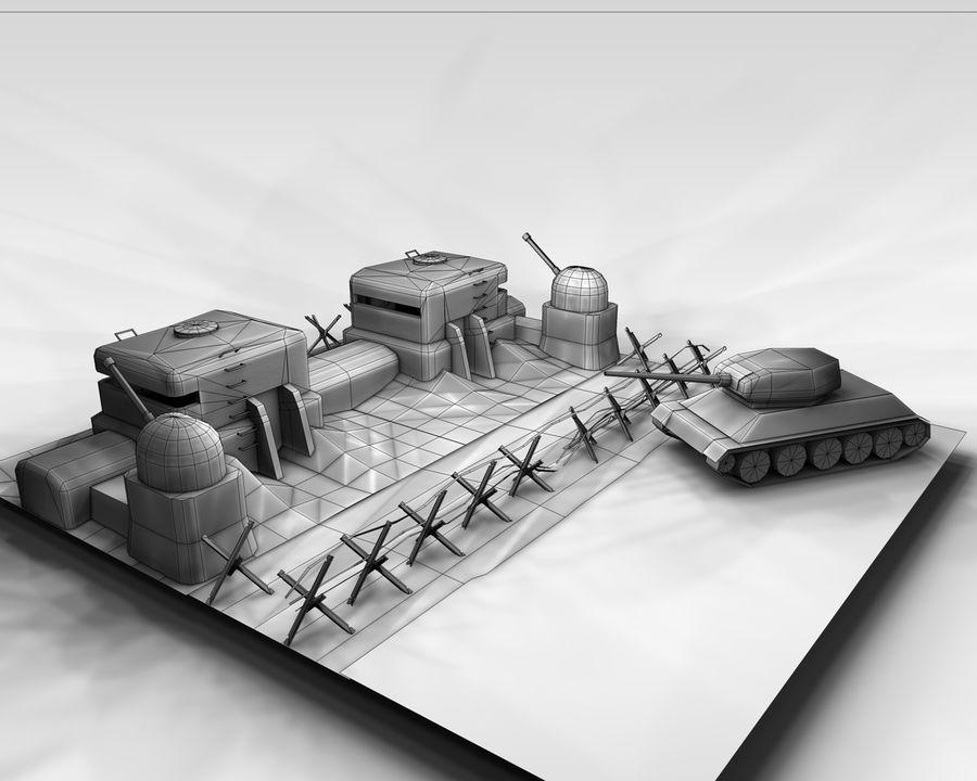 陣地壕 royalty-free 3d model - Preview no. 7