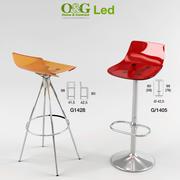 Sgabello a led 3d model