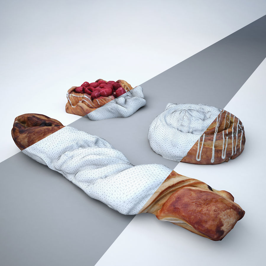Bakery set royalty-free 3d model - Preview no. 3