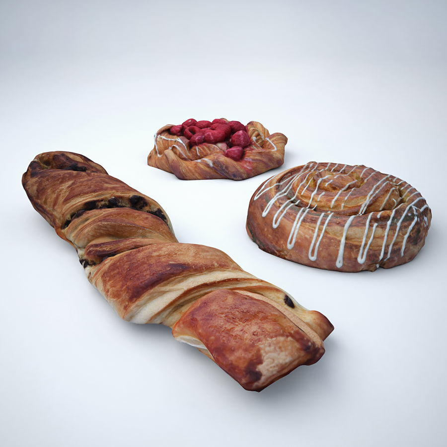 Bakery set royalty-free 3d model - Preview no. 2