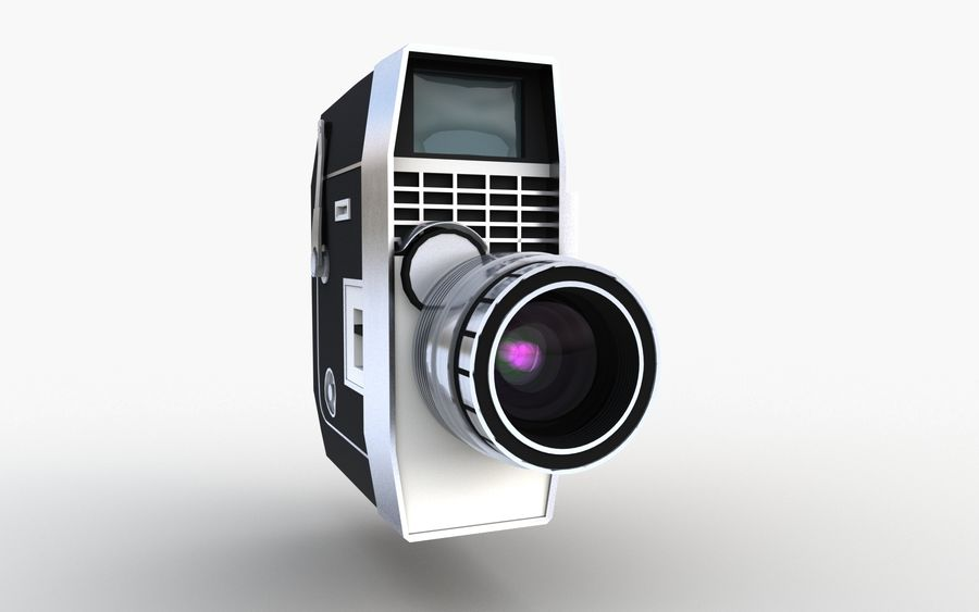 Vintage Camera royalty-free 3d model - Preview no. 11