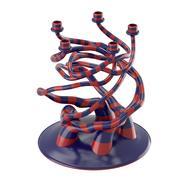 Gestreifter Kerzenhalter mit organischer Form 3d model