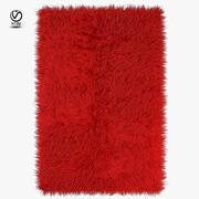 Tapis rouge à longs poils 3d model