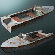 barco velho 3d model